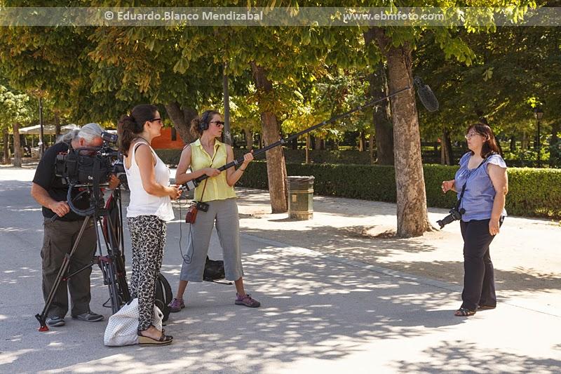 Susana, una de las alumnas, fue entrevistada y comentó lo aprendido durante el curso. © Eduardo Blanco Mendizabal