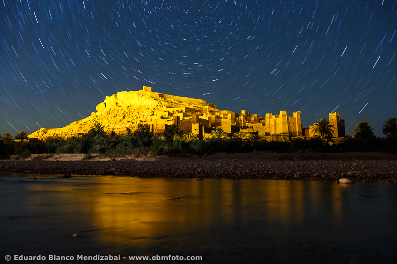 Night and stars. Kasar Ait ben haddou. Morocco. North Africa.