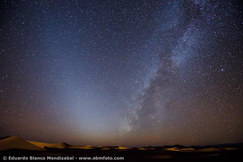 Dunes, Erg Chigaga, Luz Zodiacal, Milky way, Morocco